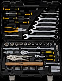 BERGER 078-1214 Набор инструментов универсальный, 78 предметов