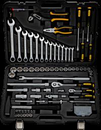 BERGER 102-1214 Набор инструментов универсальный, 102 предмета