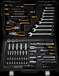 BERGER 128-1214 Набор инструментов универсальный, 128 предметов