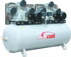 AIRCAST CБ4/Ф-500.LB75TБ Тандем компрессор поршневой с горизонтальным ресивером, 380В