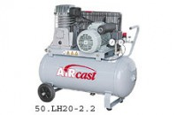 AIRCAST CБ4/C-50.LH20 компрессор поршневой с горизонтальным ресивером, 220В