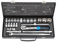 """Licota ALT-5002F-RU Набор торцевых головок 1/2"""" 10 - 32 мм, 24 предмета"""
