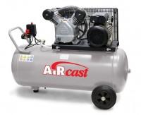 AIRCAST CБ4/C-100.LB24A компрессор поршневой с горизонтальным ресивером, 220В