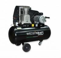 WiederKraft WDK-90532 компрессор поршневой с горизонтальным ресивером, 220В