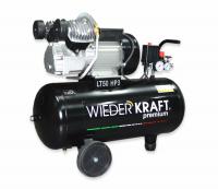 WiederKraft WDK-90534 компрессор поршневой с горизонтальным ресивером, 220В
