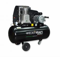 WiederKraft WDK-91053 компрессор поршневой с горизонтальным ресивером, 220В