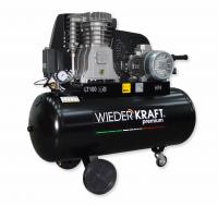 WiederKraft WDK-91054 компрессор поршневой с горизонтальным ресивером, 380В