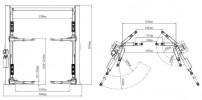 Atis A245AC (AMGO A245AC) Подъемник с верхней синхронизацией, 4,5 т, асимметричный