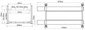 Atis A455 (PEAK 412) Подъемник четырехстоечный для слесарных работ, 5,5 т
