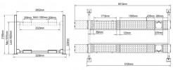 Atis A455A (PEAK 412A) Подъемник четырехстоечный под 3D сход-развал, 5,5 т, для длиннобазных автомобилей