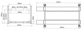 Atis A465 (PEAK 414) Подъемник четырехстоечный для слесарных работ, 6,5 т для