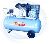 AIRCAST CБ4/C-100.LB30-3.0 компрессор поршневой с горизонтальным ресивером, 380В