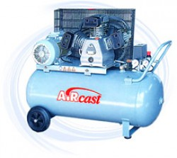 AIRCAST CБ4/C-200.LB40 компрессор поршневой с горизонтальным ресивером, 380В
