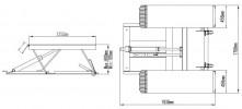 Atis LR06 Подъемник ножничный низкоуровневый, 2.8 т