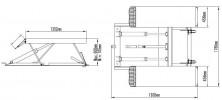 Atis LR10 Подъемник ножничный низкоуровневый передвижной, 4.5 т