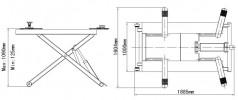 Atis MR06 Подъемник среднеуровневый передвижной, 2,8 т