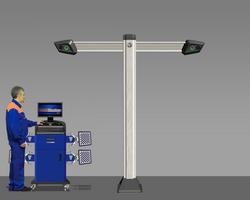 Техно Вектор T 7202 T 5 A стенд сход развал 3D, напольный